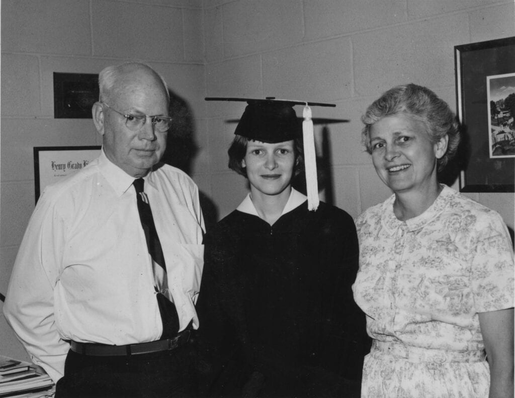 John D Humphries and Demaris Keen Humphries with Demaris Guest Humphries Miller 1965