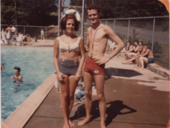Kirby, visiting with David when at Milstead Pool, where he had completed Red Cross Life Guard training.